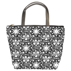 Star Crystal Black White 1 And 2 Bucket Bags by Cveti