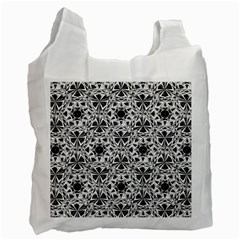 Star Crystal Black White 1 And 2 Recycle Bag (one Side) by Cveti
