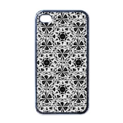 Star Crystal Black White 1 And 2 Apple Iphone 4 Case (black) by Cveti