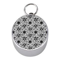 Star Crystal Black White 1 And 2 Mini Silver Compasses by Cveti