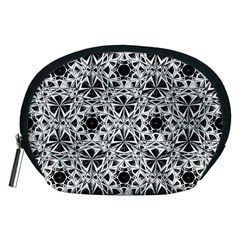 Star Crystal Black White 1 And 2 Accessory Pouches (medium)  by Cveti