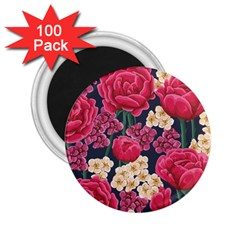 Pink Roses And Daisies 2 25  Magnets (100 Pack)  by teambridelasvegas