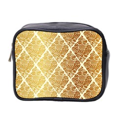 Vintage,gold,damask,floral,pattern,elegant,chic,beautiful,victorian,modern,trendy Mini Toiletries Bag 2 Side by 8fugoso