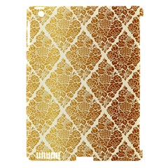 Vintage,gold,damask,floral,pattern,elegant,chic,beautiful,victorian,modern,trendy Apple Ipad 3/4 Hardshell Case (compatible With Smart Cover) by 8fugoso