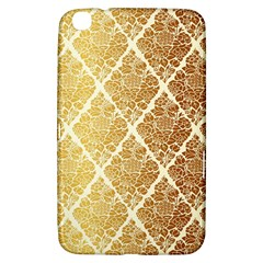 Vintage,gold,damask,floral,pattern,elegant,chic,beautiful,victorian,modern,trendy Samsung Galaxy Tab 3 (8 ) T3100 Hardshell Case  by 8fugoso