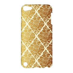 Vintage,gold,damask,floral,pattern,elegant,chic,beautiful,victorian,modern,trendy Apple Ipod Touch 5 Hardshell Case by 8fugoso