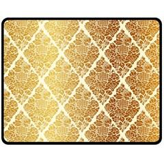 Vintage,gold,damask,floral,pattern,elegant,chic,beautiful,victorian,modern,trendy Double Sided Fleece Blanket (medium)  by 8fugoso