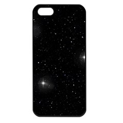 Starry Galaxy Night Black And White Stars Apple Iphone 5 Seamless Case (black) by yoursparklingshop