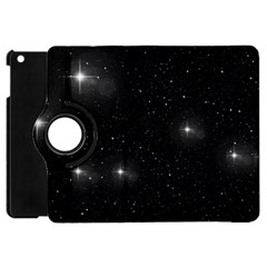 Starry Galaxy Night Black And White Stars Apple Ipad Mini Flip 360 Case by yoursparklingshop