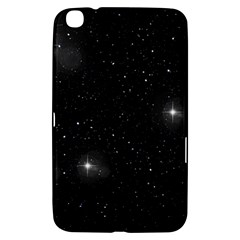 Starry Galaxy Night Black And White Stars Samsung Galaxy Tab 3 (8 ) T3100 Hardshell Case  by yoursparklingshop