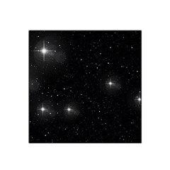 Starry Galaxy Night Black And White Stars Satin Bandana Scarf by yoursparklingshop
