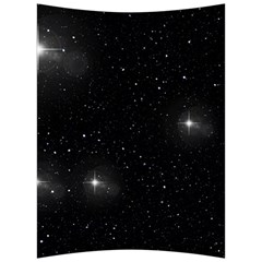 Starry Galaxy Night Black And White Stars Back Support Cushion by yoursparklingshop