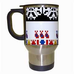 Bulgarian Folk Art Folk Art Travel Mugs (white) by Celenk