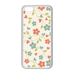Abstract Art Background Colorful Apple Iphone 5c Seamless Case (white) by Celenk
