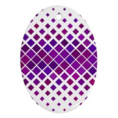 Pattern Square Purple Horizontal Ornament (oval) by Celenk