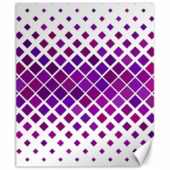 Pattern Square Purple Horizontal Canvas 8  X 10  by Celenk