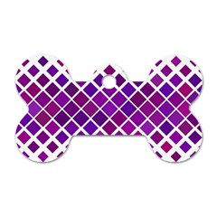 Pattern Square Purple Horizontal Dog Tag Bone (two Sides) by Celenk