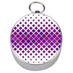Pattern Square Purple Horizontal Silver Compasses by Celenk