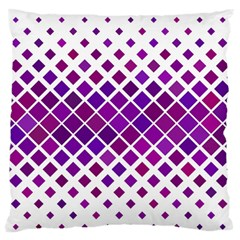 Pattern Square Purple Horizontal Standard Flano Cushion Case (one Side) by Celenk