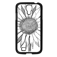 Sunflower Flower Line Art Summer Samsung Galaxy S4 I9500/ I9505 Case (black) by Celenk