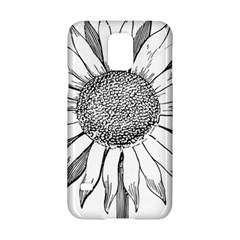 Sunflower Flower Line Art Summer Samsung Galaxy S5 Hardshell Case  by Celenk