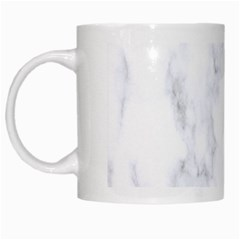 Marble Texture White Pattern White Mugs by Celenk