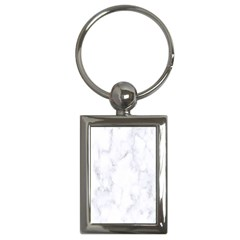 Marble Texture White Pattern Key Chains (rectangle)  by Celenk