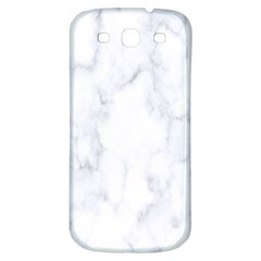 Marble Texture White Pattern Samsung Galaxy S3 S Iii Classic Hardshell Back Case by Celenk