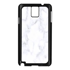 Marble Texture White Pattern Samsung Galaxy Note 3 N9005 Case (black) by Celenk
