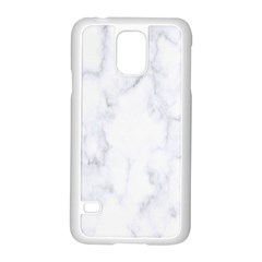 Marble Texture White Pattern Samsung Galaxy S5 Case (white) by Celenk