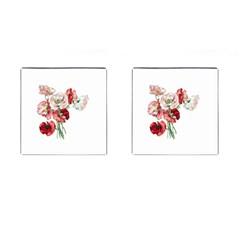 Flowers Poppies Poppy Vintage Cufflinks (square) by Celenk