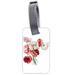 Flowers Poppies Poppy Vintage Luggage Tags (one Side)  by Celenk