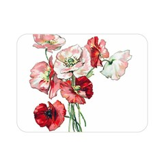 Flowers Poppies Poppy Vintage Double Sided Flano Blanket (mini)  by Celenk