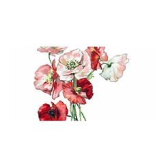 Flowers Poppies Poppy Vintage Satin Wrap by Celenk