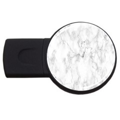 White Background Pattern Tile Usb Flash Drive Round (2 Gb) by Celenk