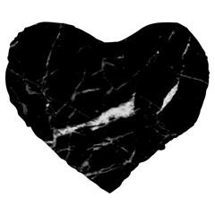 Black Texture Background Stone Large 19  Premium Heart Shape Cushions by Celenk