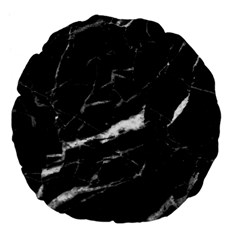 Black Texture Background Stone Large 18  Premium Flano Round Cushions by Celenk