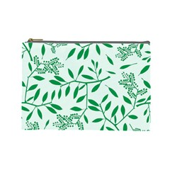 Leaves Foliage Green Wallpaper Cosmetic Bag (large)  by Celenk