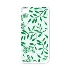 Leaves Foliage Green Wallpaper Apple Iphone 4 Case (white) by Celenk