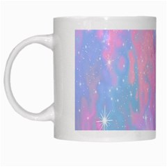 Space Psychedelic Colorful Color White Mugs by Celenk