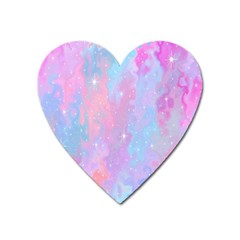 Space Psychedelic Colorful Color Heart Magnet by Celenk