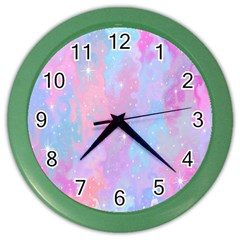 Space Psychedelic Colorful Color Color Wall Clocks by Celenk
