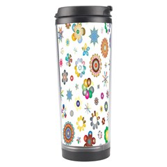 Design Aspect Ratio Abstract Travel Tumbler by Celenk