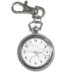 White Background Pattern Tile Key Chain Watches by Celenk