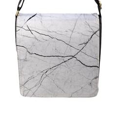 White Background Pattern Tile Flap Messenger Bag (l)  by Celenk