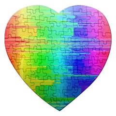 Colors Rainbow Chakras Style Jigsaw Puzzle (heart) by Celenk