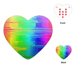 Colors Rainbow Chakras Style Playing Cards (heart)  by Celenk