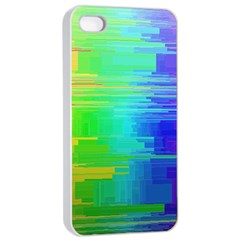 Colors Rainbow Chakras Style Apple Iphone 4/4s Seamless Case (white) by Celenk