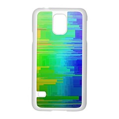 Colors Rainbow Chakras Style Samsung Galaxy S5 Case (white) by Celenk