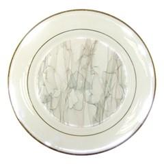 Background Modern Smoke Design Porcelain Plates by Celenk